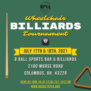 2021 Wheelchair Billiards Tournament invitation
